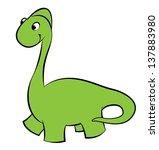 illustration of a green dinosaur | Shutterstock .eps vector #137883980