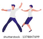 young couple dancing characters | Shutterstock .eps vector #1378847699