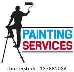 Illustration Of A Man Painting...