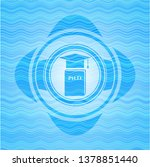 phd thesis icon inside water... | Shutterstock .eps vector #1378851440
