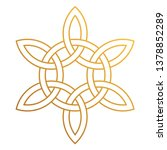 celtic knot   beautiful celtic... | Shutterstock .eps vector #1378852289