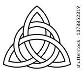 celtic knot   beautiful celtic... | Shutterstock .eps vector #1378852319