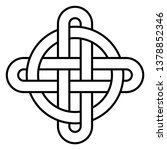 celtic knot   beautiful celtic... | Shutterstock .eps vector #1378852346