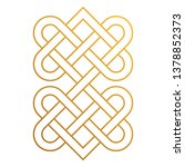 celtic knot   beautiful celtic... | Shutterstock .eps vector #1378852373