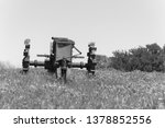 Vintage Tone Old Tractor And...