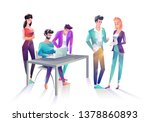 concept in flat style with... | Shutterstock .eps vector #1378860893