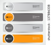 modern banner design template   ...   Shutterstock .eps vector #137886338