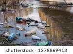 plastic garbage in the river  ... | Shutterstock . vector #1378869413