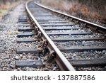 Railway Tracks Heading Into Th...