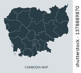 cambodia map on gray background ... | Shutterstock .eps vector #1378889870