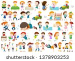 set of different kids ...   Shutterstock .eps vector #1378903253