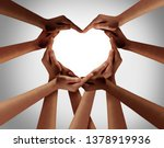 Heart hands as a group of...