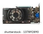 graphics card on isolated... | Shutterstock . vector #137892890