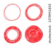 hand drawn circle line sketch... | Shutterstock .eps vector #1378941833