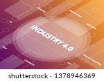 industry revolution 4.0 words... | Shutterstock .eps vector #1378946369