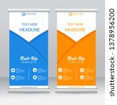 roll up banner stand template... | Shutterstock .eps vector #1378956200