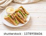 homemade tuna sandwich with...   Shutterstock . vector #1378958606