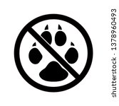 no animals allowed silhouette... | Shutterstock .eps vector #1378960493