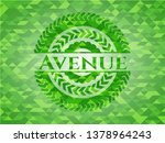 avenue realistic green emblem....   Shutterstock .eps vector #1378964243