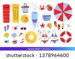 vector seaside top view... | Shutterstock .eps vector #1378964600
