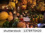 various fruits in the local... | Shutterstock . vector #1378970420
