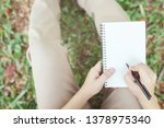 close up hand young man are... | Shutterstock . vector #1378975340