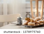 traditional islamic cookies on... | Shutterstock . vector #1378975760