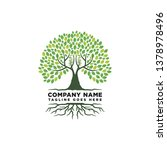 root of the tree logo design...   Shutterstock .eps vector #1378978496