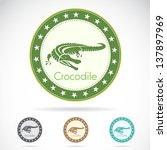 Set Of Vector Crocodile Label...