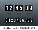 flip clock showing how much... | Shutterstock .eps vector #1378980563