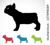 vector image of an dog on white ...   Shutterstock .eps vector #137898089