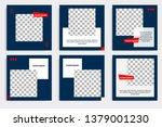 editable modern minimal square... | Shutterstock .eps vector #1379001230