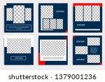 editable modern minimal square... | Shutterstock .eps vector #1379001236