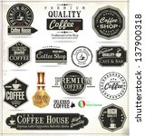 set of retro vintage coffee... | Shutterstock .eps vector #137900318