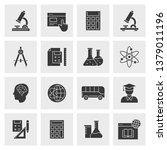 education icon set. black... | Shutterstock .eps vector #1379011196