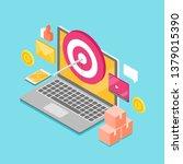 target marketing  digital...   Shutterstock .eps vector #1379015390