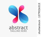 Cross Of Abstract Curvy Logo...
