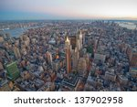 new york city skyline at sunset.... | Shutterstock . vector #137902958