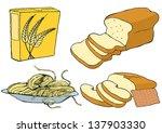 grain products set | Shutterstock .eps vector #137903330