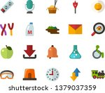 color flat icon set   easter... | Shutterstock .eps vector #1379037359