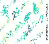 stripes of musical notes.... | Shutterstock .eps vector #1379048216