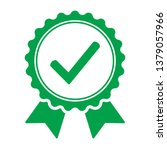 green icon approved or... | Shutterstock .eps vector #1379057966