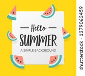 flat summer background with... | Shutterstock .eps vector #1379063459