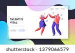 young couple of male and female ... | Shutterstock .eps vector #1379066579