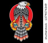 eagle traditional tattoo flash  ... | Shutterstock .eps vector #1379074349