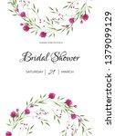 watercolor wedding template... | Shutterstock . vector #1379099129