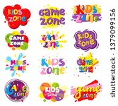 kids zone entertainment banner... | Shutterstock .eps vector #1379099156