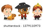 Set Of Multiracial Boys And...