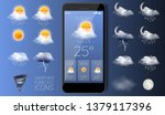Weather Forecast Icon Set ...
