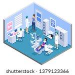 dental clinic practice office...   Shutterstock .eps vector #1379123366